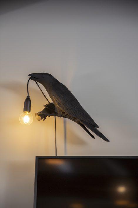 Kraai in het Kraaiennest House of Bird