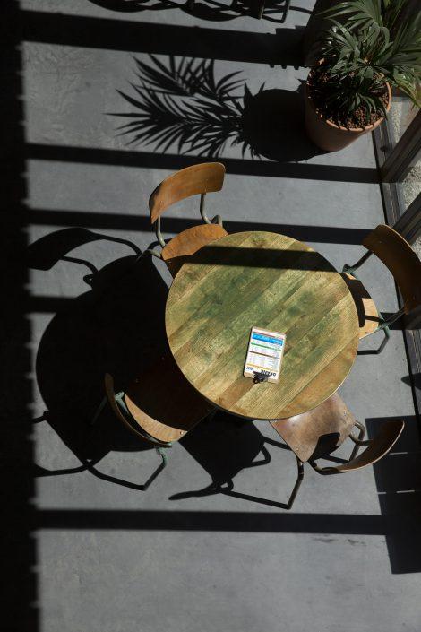 Tafel in het proeflokaal House of Bird